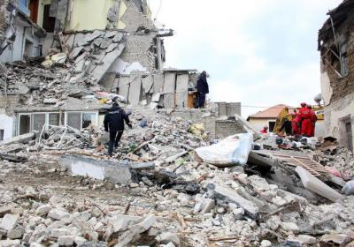 Vigili del Fuoco terremoto Albania novembre 2019 Durazzo Italia VVF